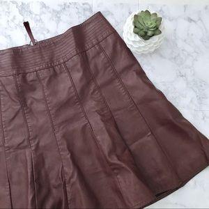 Anthropologie HD in Paris Vegan Leather Skirt